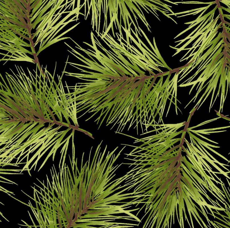 Fresh Pine from the Poinsettia & Pine Collection Maywood Studio Christmas Holidays  Pine Boughs