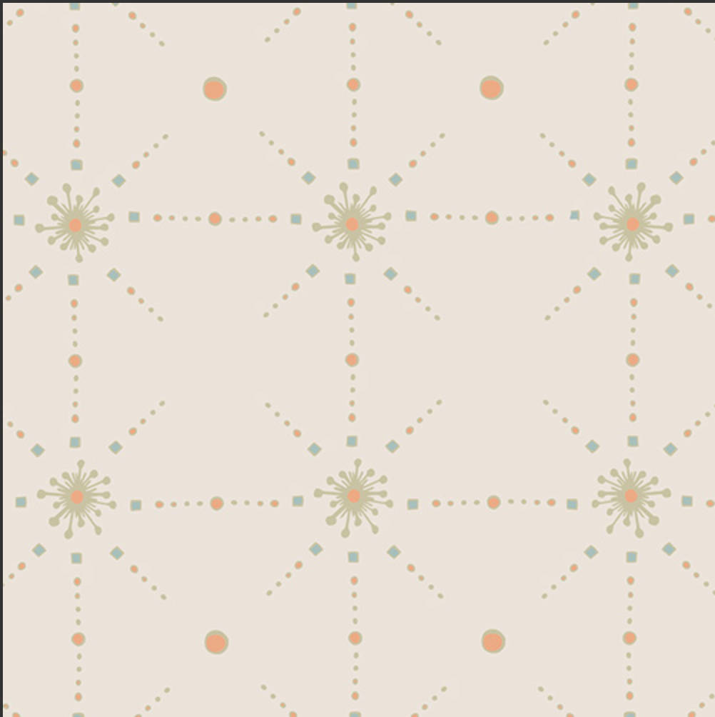 From Within Almond from Soulful  designed by Maureen Cracknell for Art Gallery Fabrics Boho Fabric Geometric Design