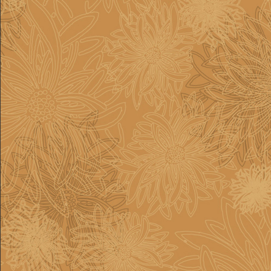 Honey Mustard  from Floral Elements Design Collection for Art Gallery Fabrics