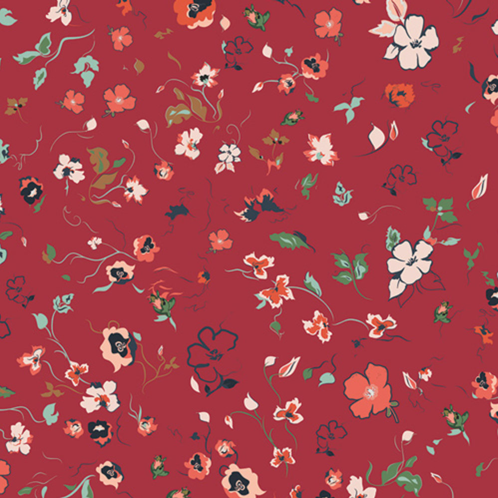 Joie de Clair Woodlands designed by AGF Studio for Art Gallery Fabrics Boho Fabric Floral Fabric