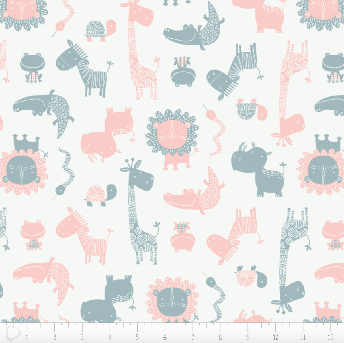 Jungle Friends in Pink from the Wild One fabric collection by Andrea Turk for Camelot Fabrics