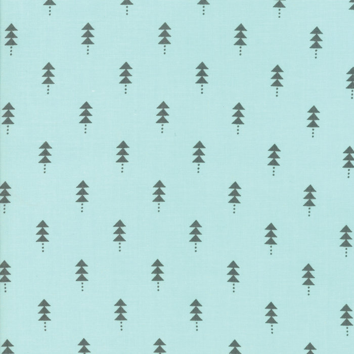 Little Tree Quilting Fabric by Lella Boutique from Moda 5094-16 Frost Christmas Trees yardage aqua