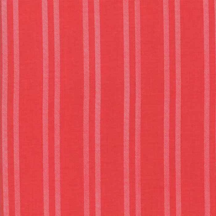 Little Tree Quilting Fabric by Lella Boutique from Moda 5096-13 Cranberry yardage red white stripes