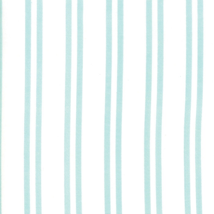 Little Tree Quilting Fabric by Lella Boutique from Moda 5096-22 Snow Frost yardage aqua stripes