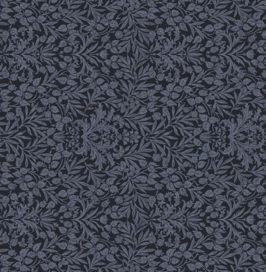 Memoire a Paris Quilt Fabric - Floral Damask in Charcoal Gray - 820817-77 Japanese Fabric