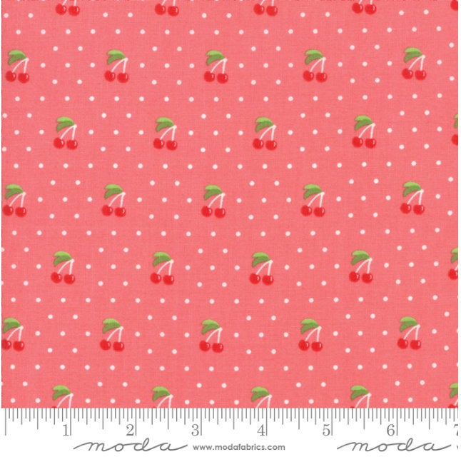 Orchard Cherry Pie Strawberry designed by April Rosenthal for Moda Fabrics cherries 24074 14