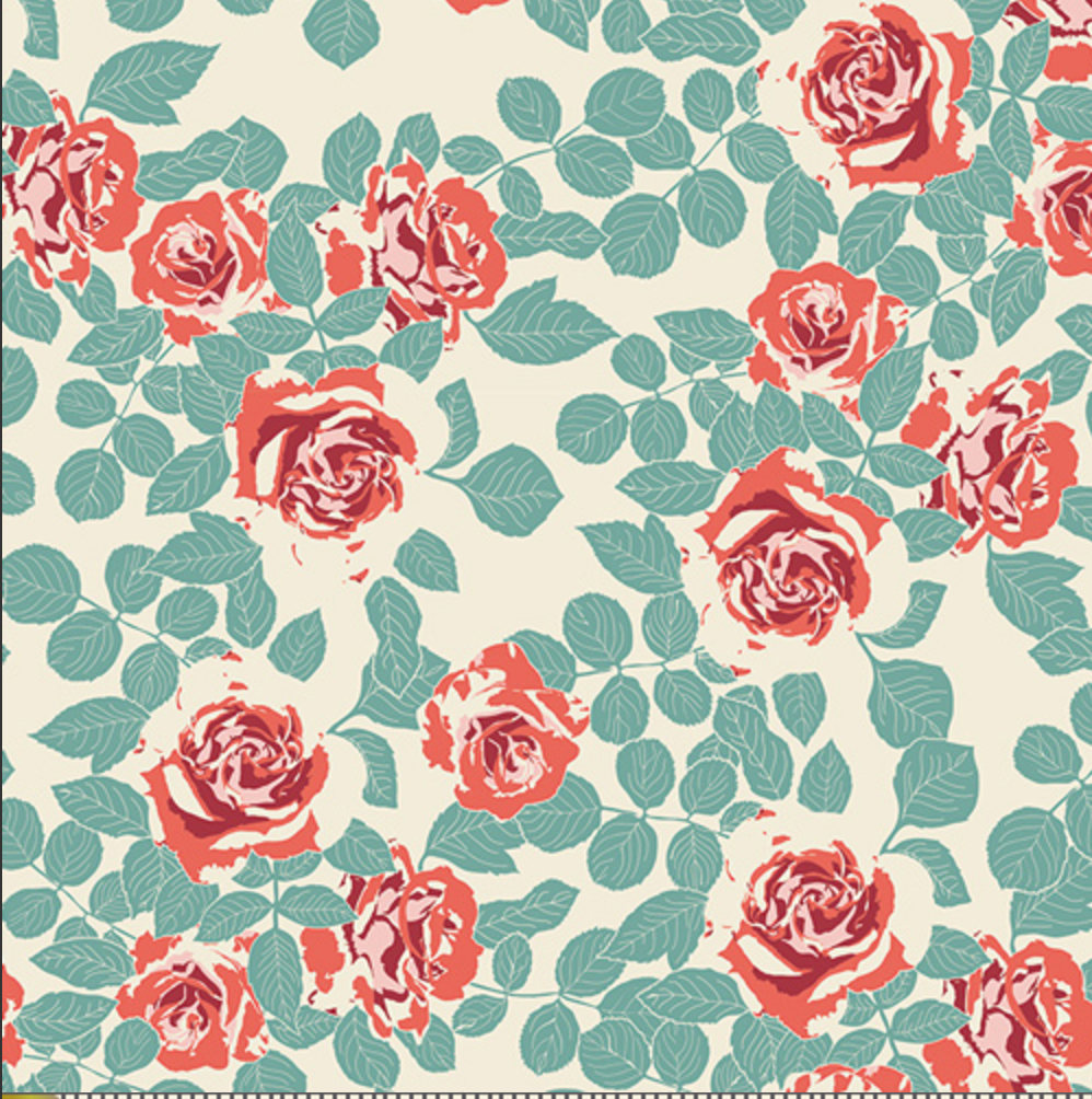 Pruning Roses Woodlands designed by Bonnie Christine for Art Gallery Fabrics Boho Fabric Floral Fabric