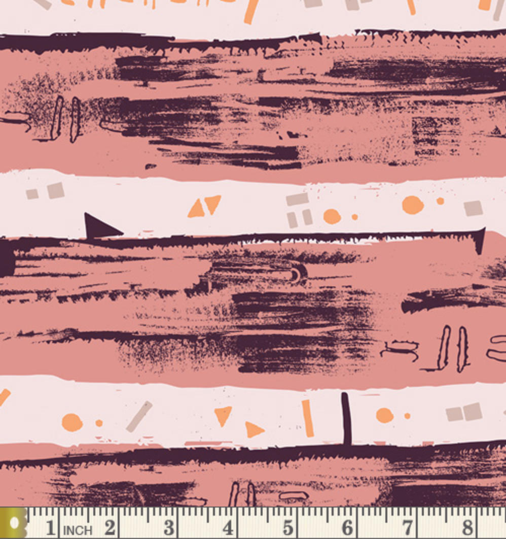 Remastering Plum from the Heart Melodies fabric collection by Art Gallery Fabrics