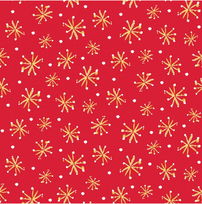 Retro Stars Red  from the All the Trimmings collection by Maywood Studio MAS9375-R  Holiday - Christmas Novelty yardage