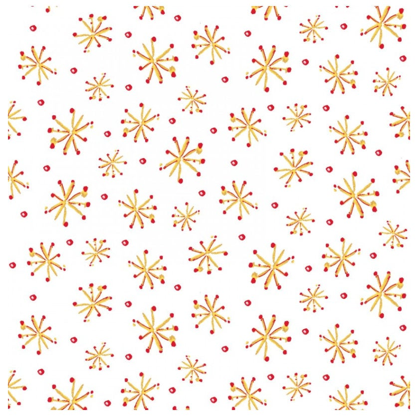 Retro Stars White  from the All the Trimmings collection by Maywood Studio MAS9375-W  Holiday - Christmas Novelty yardage