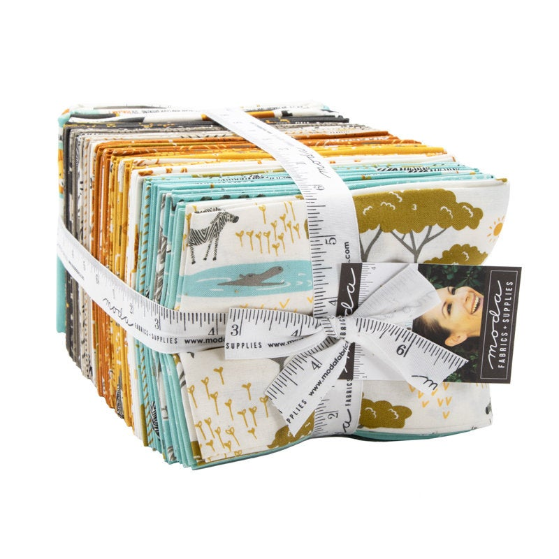 Safari Life Fat Quarter bundle designed by Stacy Iest Hsu for Moda Fabrics  38 pieces