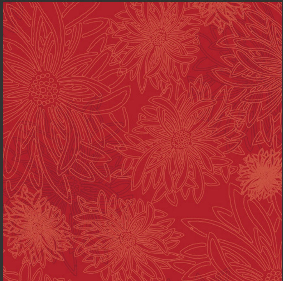 Scarlet from Floral Elements Design Collection for Art Gallery Fabrics