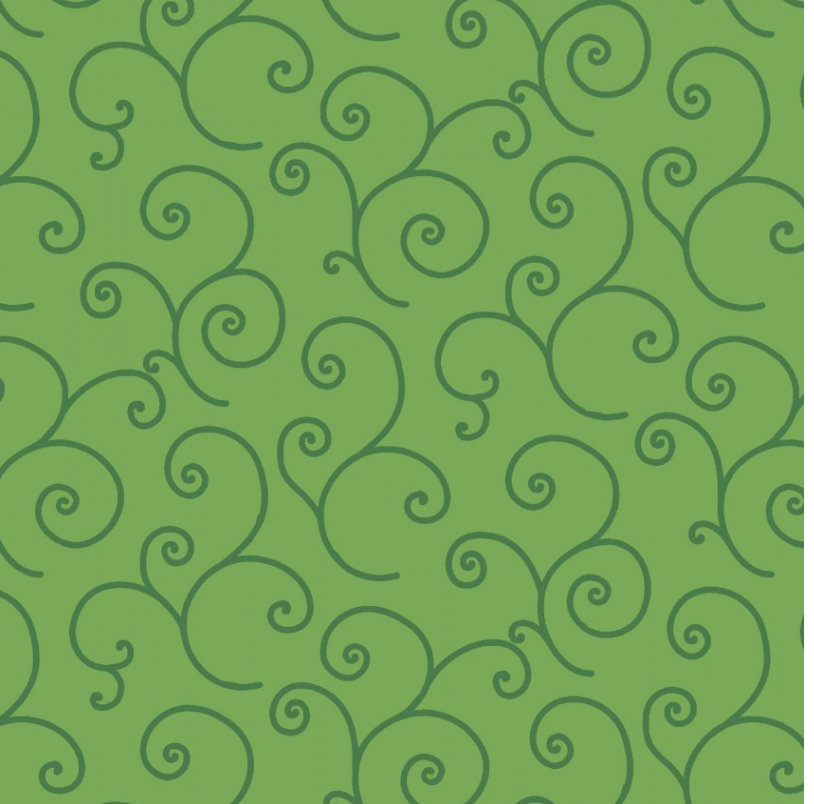 Scrolls Green Tonal from Kimberbell Basics collection designed by Kim Christopherson for Maywood Studios green