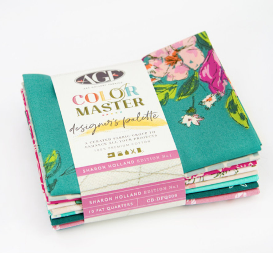 Sharon Holland Designers Palette Edition No. 1 - Color Master - 10 Piece Half-Yard  Bundle by Art Gallery Fabrics - CB-DHY206