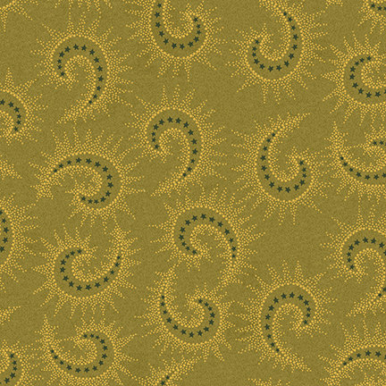 Starburst Paisley from the Sage and Sea Glass Fabric Collection designed by Kim Diehl for Henry Glass Fabrics HEG1547-66 seaweed green
