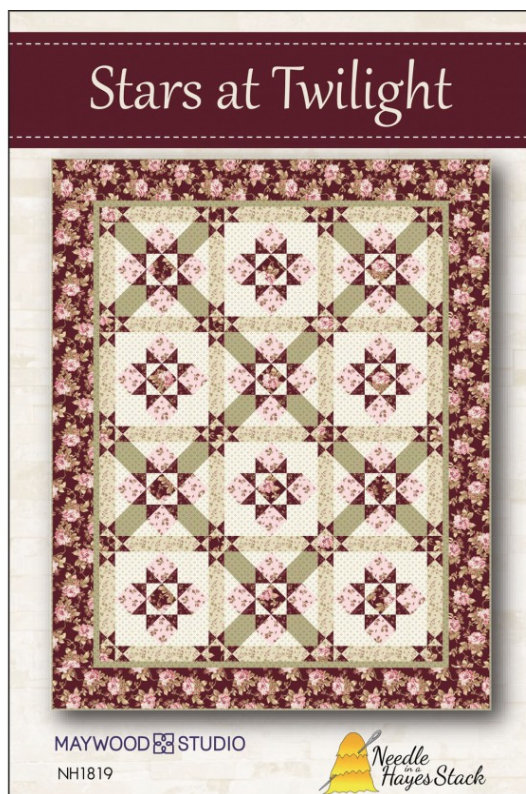 Stars at Twilight quilt pattern designed by Tiffany Hayes for Needle in a Hayes Stack distributed by Maywood Studio - NH1819