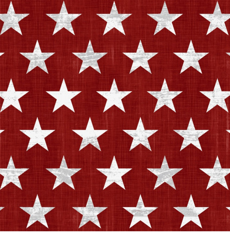 Stars Red from the Live Free Collection designed by Jessica Mundo for Henry Glass Fabrics Patriotic HEG9183-81