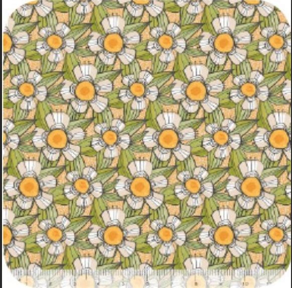 The Makers Daisy Chain Orange by Cori Dantini for Blend Fabrics floral