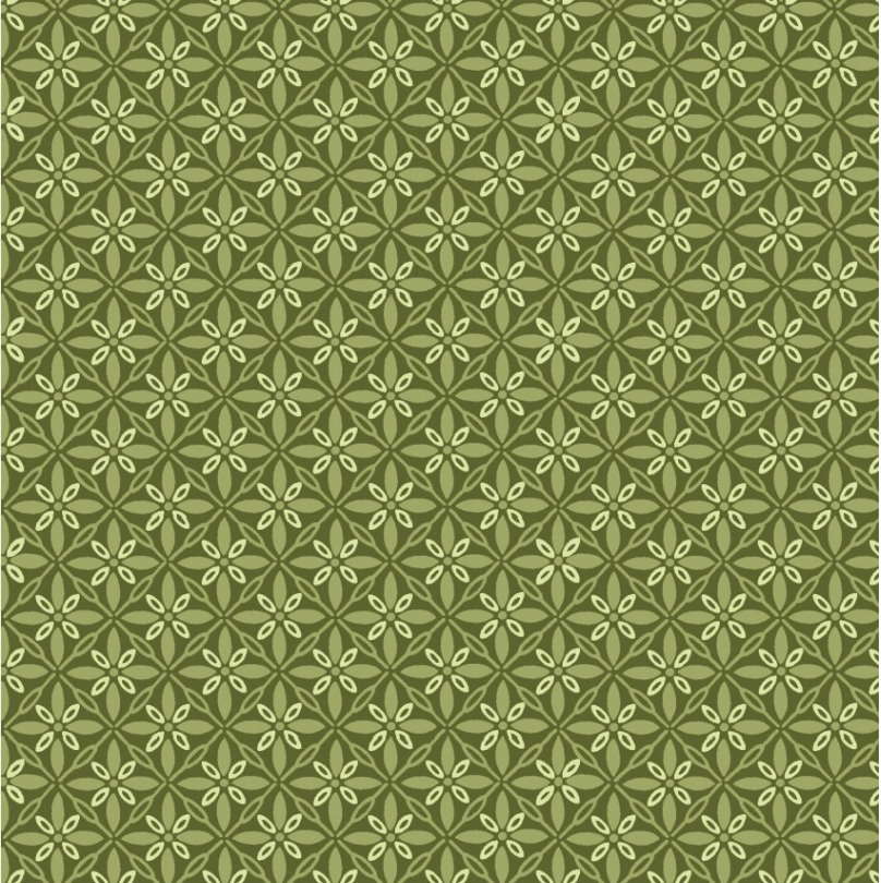 Tufted Star Green from the Make Yourself at Home fabric collection designed by Kim Christopherson for Maywood Studios MAS9396-G