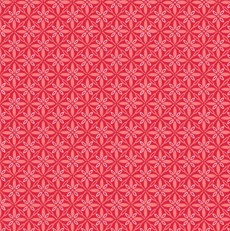 Tufted Star Red from the Make Yourself at Home fabric collection designed by Kim Christopherson for Maywood Studios MAS9396-R
