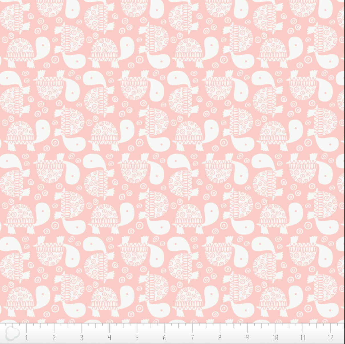 Turtles in Pink from the Wild One fabric collection by Andrea Turk for Camelot Fabrics