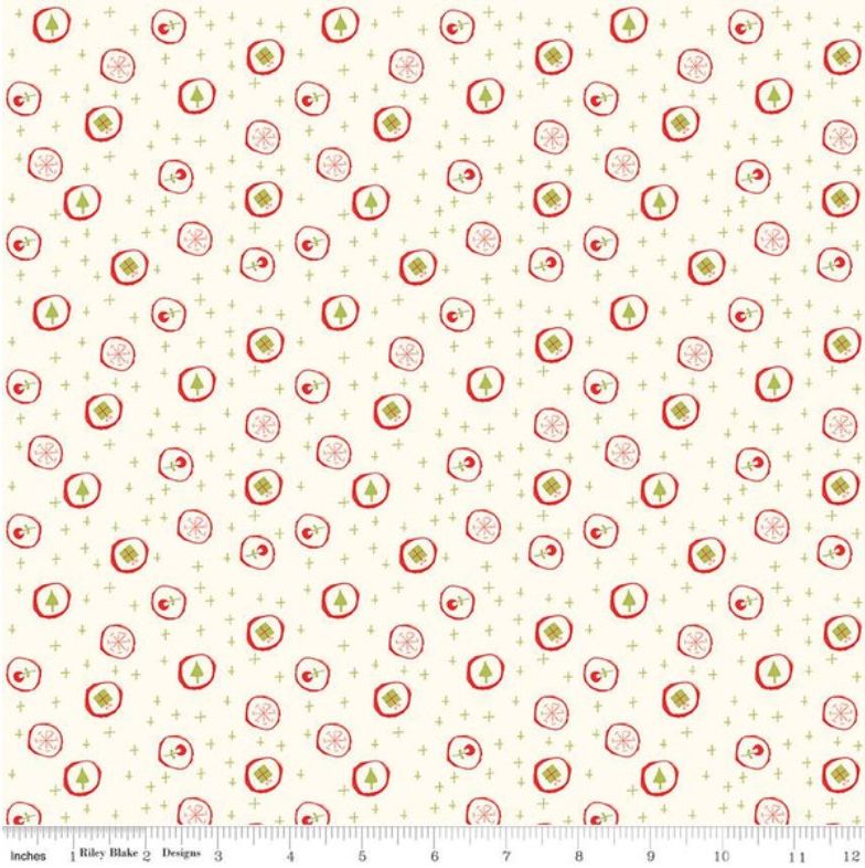 Merry Little Christmas Candy Cream designed by Sandy Gervais for Riley Blake Designs C9642-Cream
