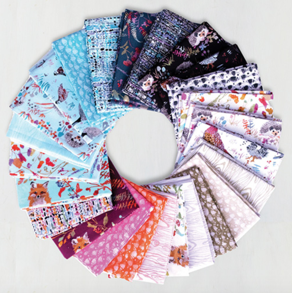 Fox Wood Fat Quarter Bundle designed by Betsy Olmsted for Windham Fabrics, , 25pcs/bundle