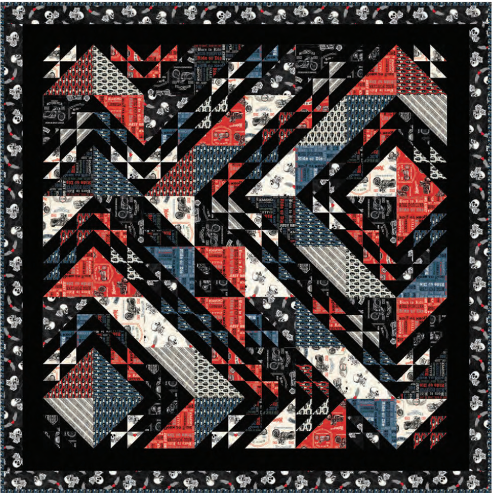 Born to Ride Quilt Kit designed by Wendy Shepard for Windham Fabrics