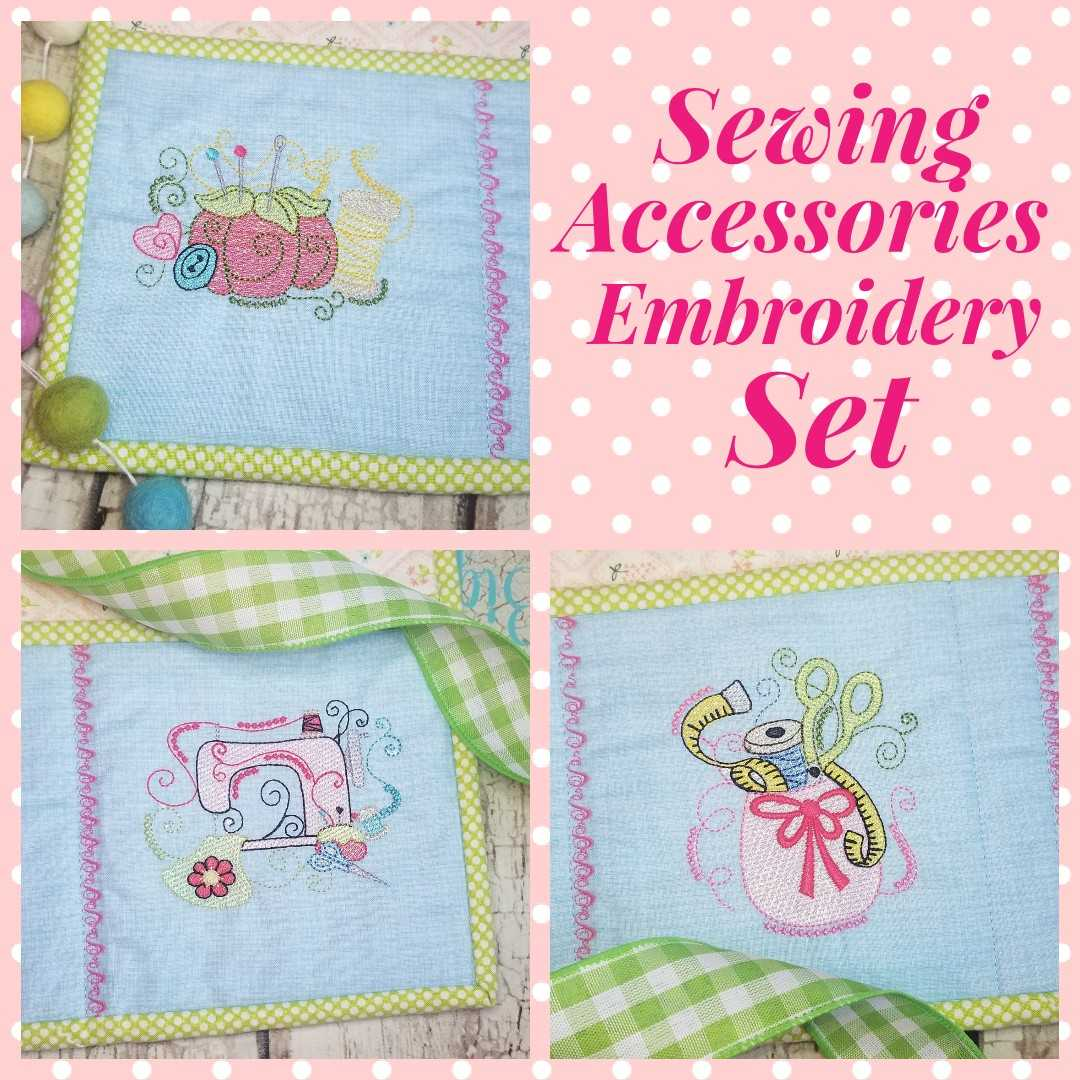 Sewing Accessories Machine Embroidery Design Set