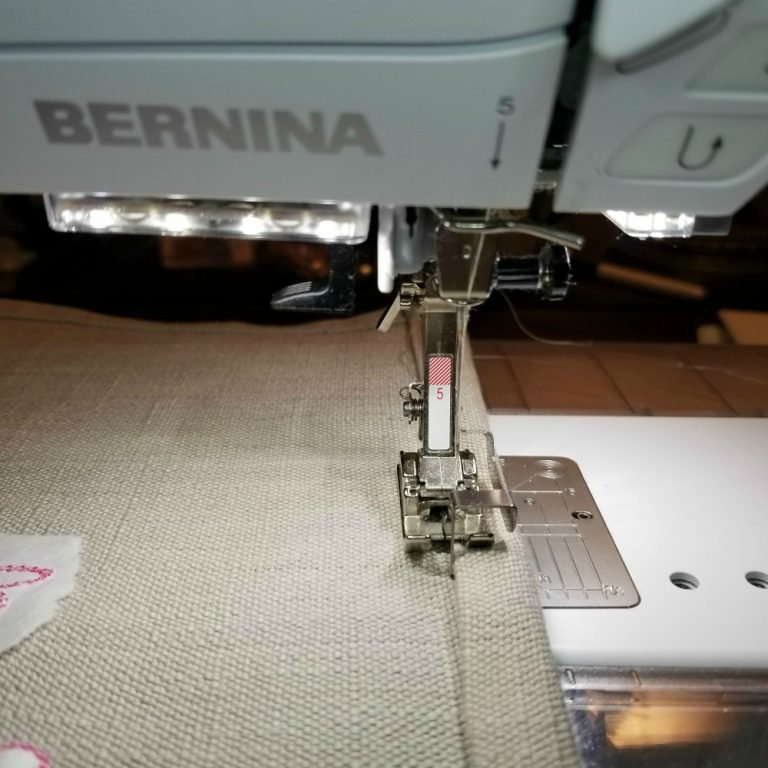 Bernina sewing a towel
