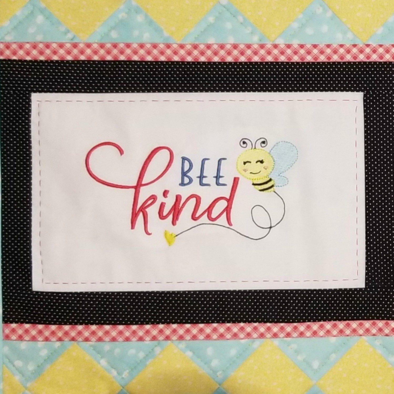 Bee Kind Machine Embroidery Design