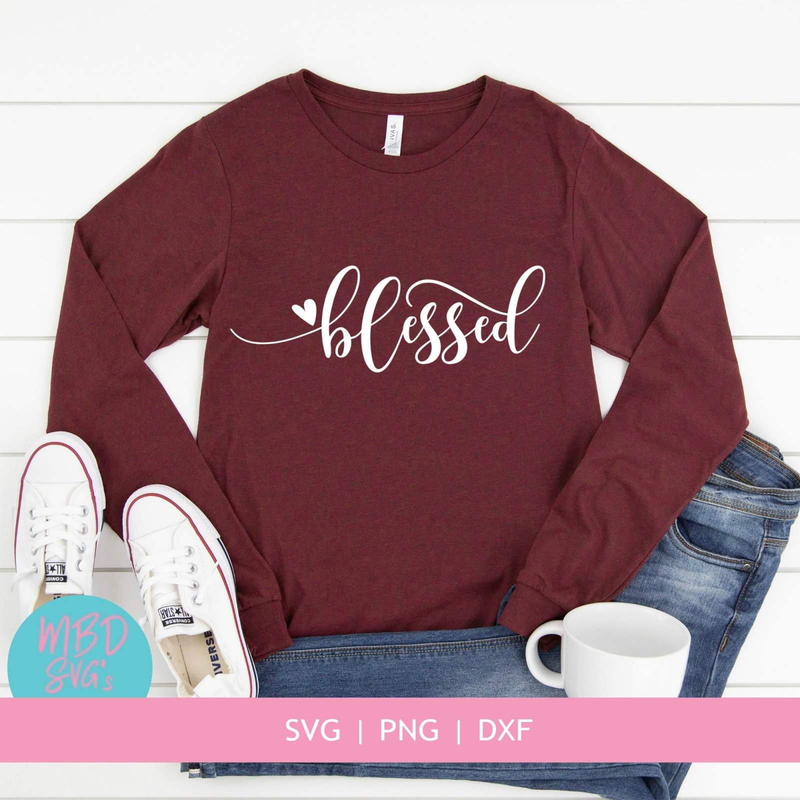 Blessed SVG Cut File for Silhouette or Cricut