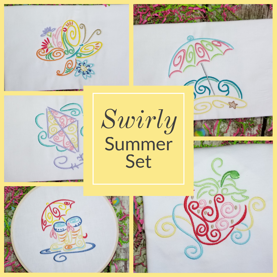 summer embroidery designs