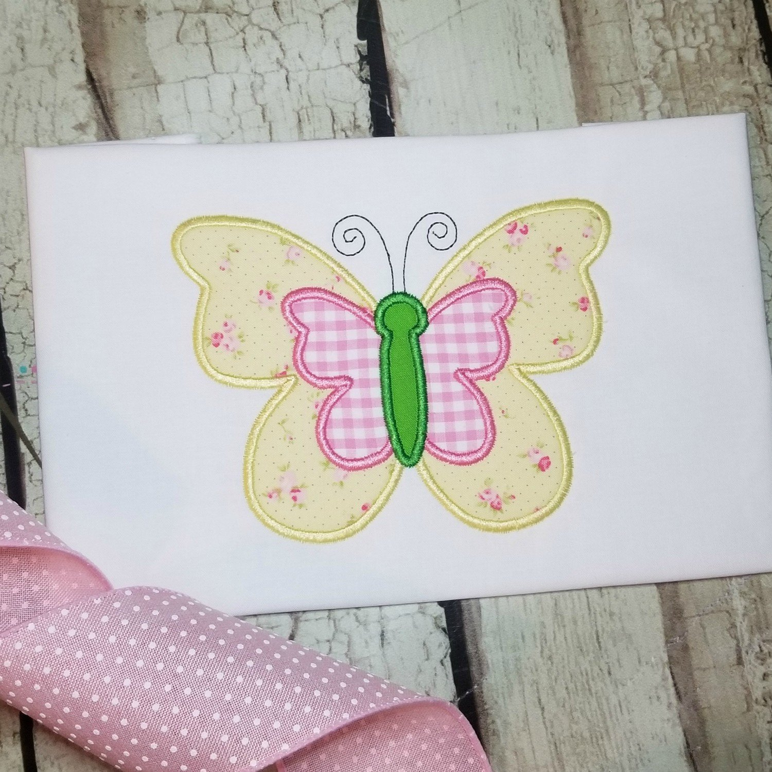 Butterfly Machine Applique Design