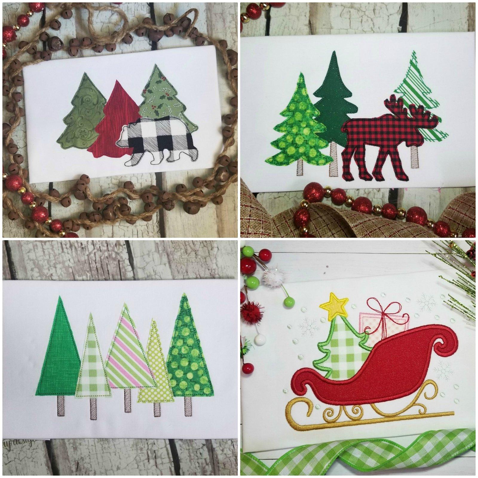 Christmas Machine Applique Design Set