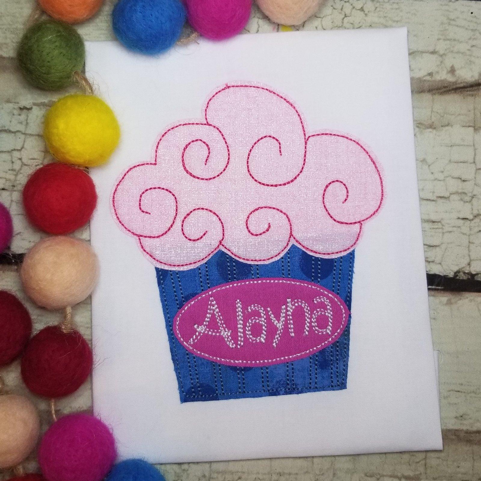 Cupcake Mahcine Applique Design - copy