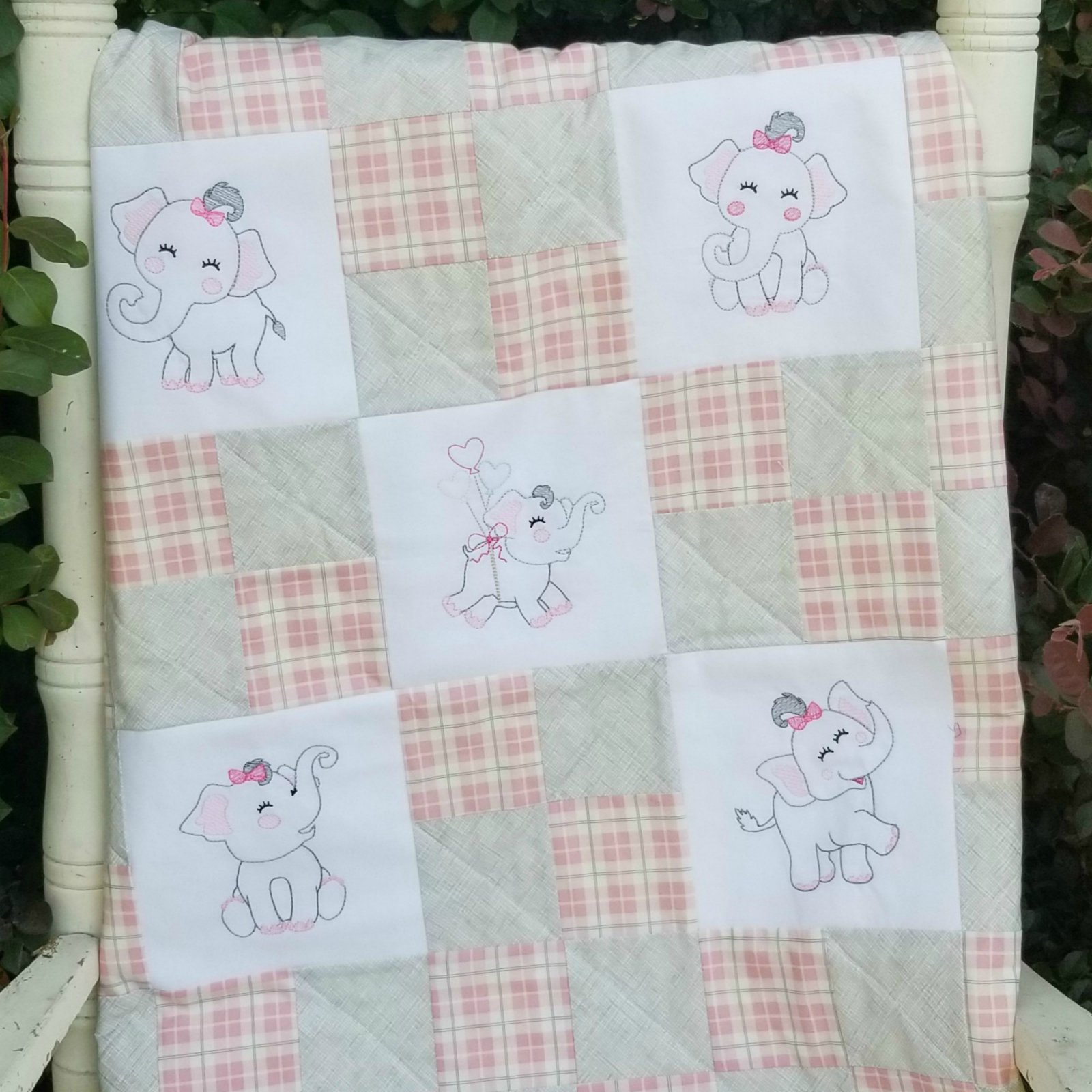Elephant Baby Quilt Pattern for Beginners