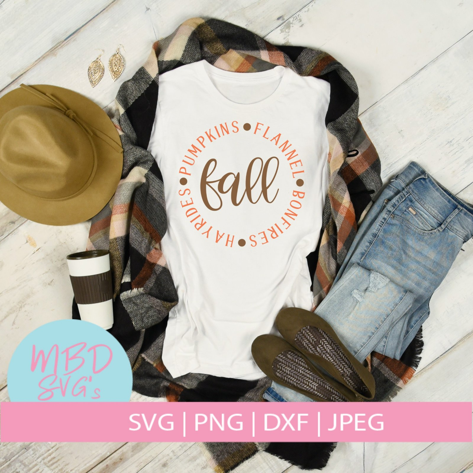 Fall Words SVG File for Silhouette or Cricut