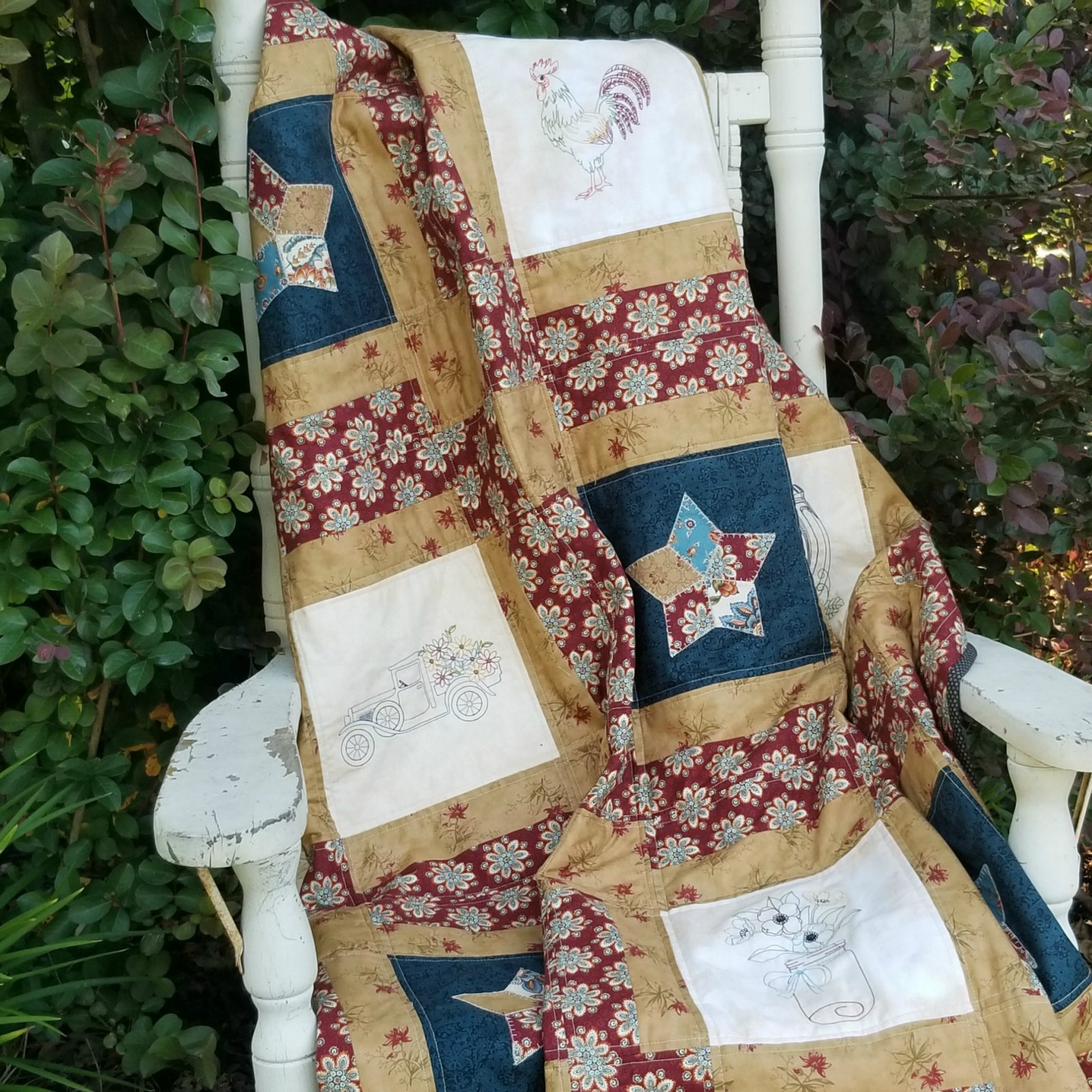 Vintage Country Farmhouse Easy Quilt Pattern