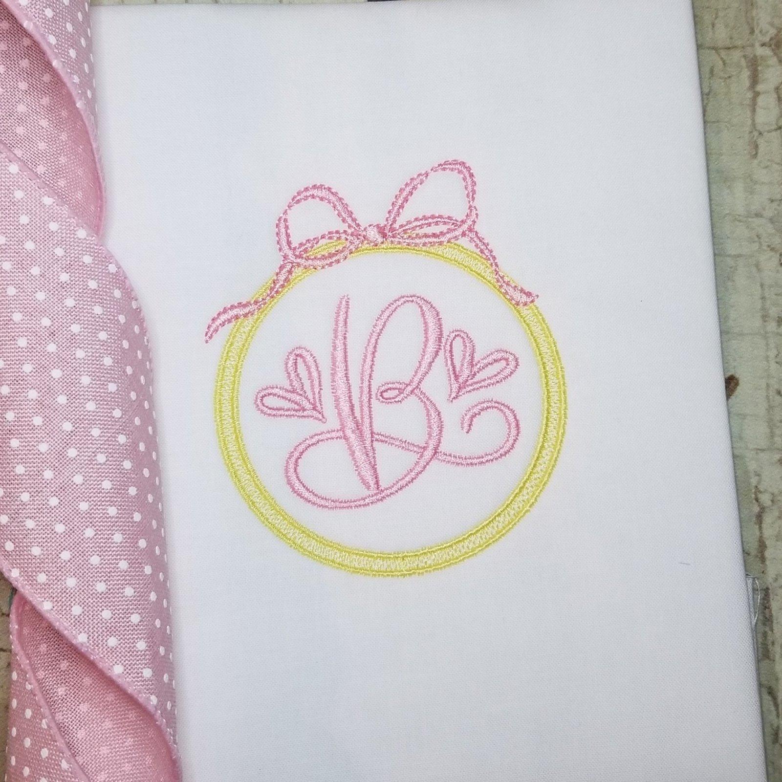 Monogram Frame Machine Embroidery Design