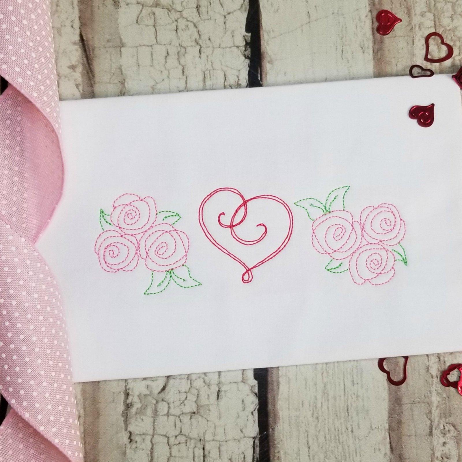 Rose Trio Machine Embroidery Design