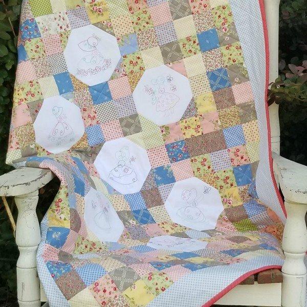 Sunbonnet Sue Beginner Quilt Pattern