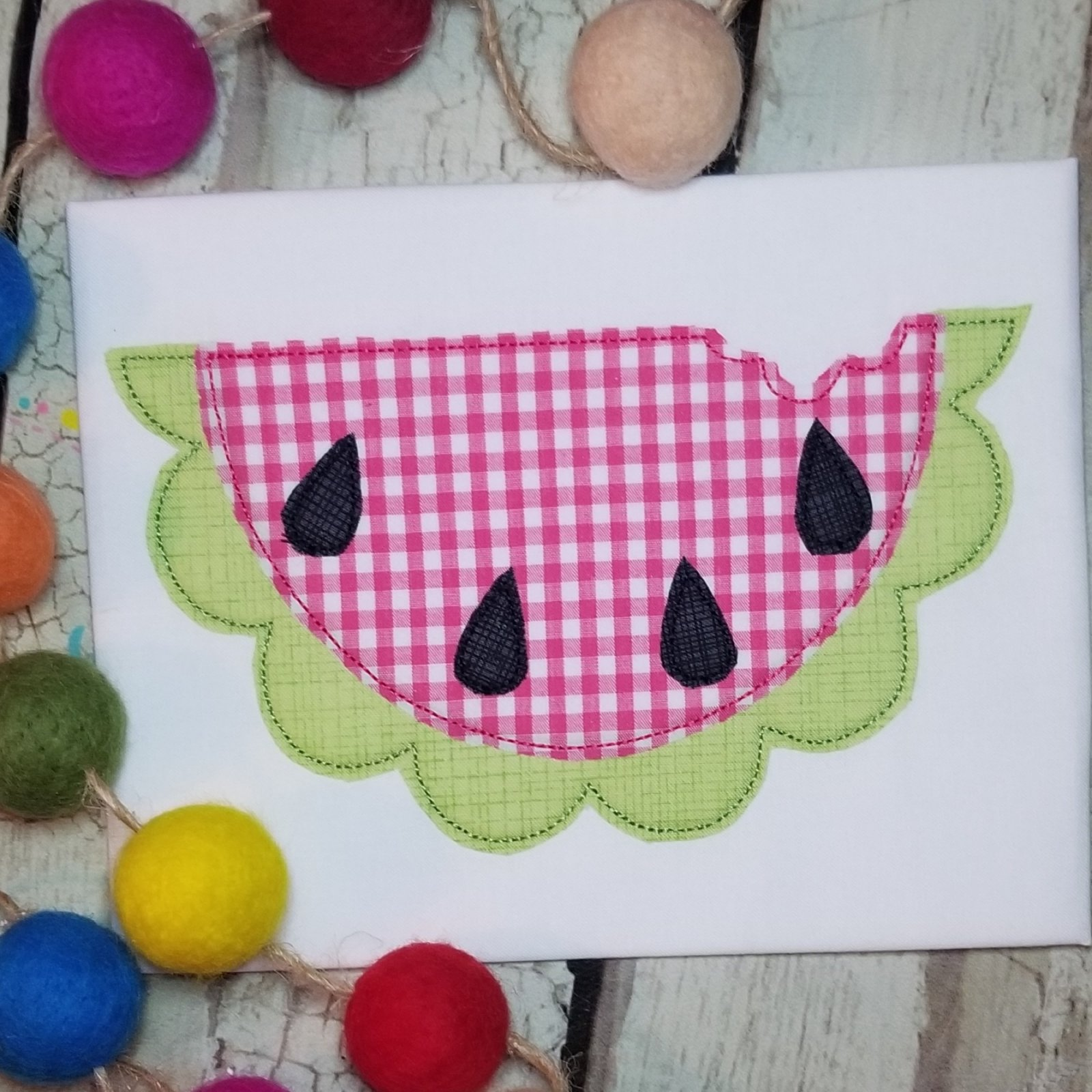 Watermelon Applique Design - Triple Stitch