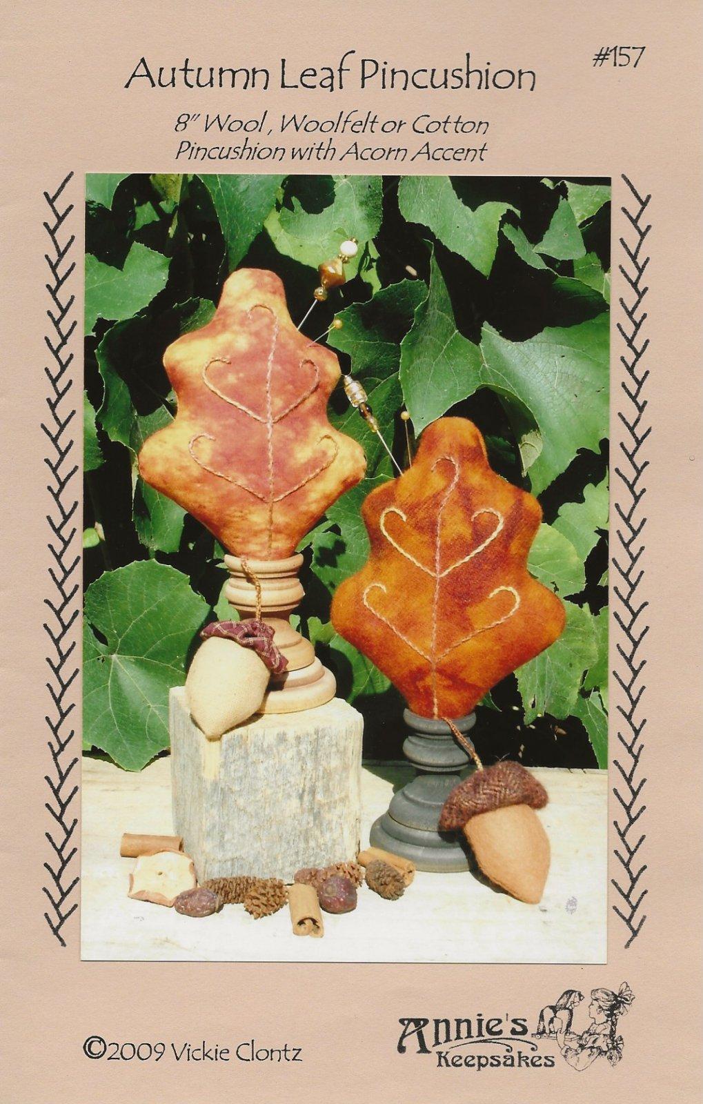 Autumn Leaf Pincushion