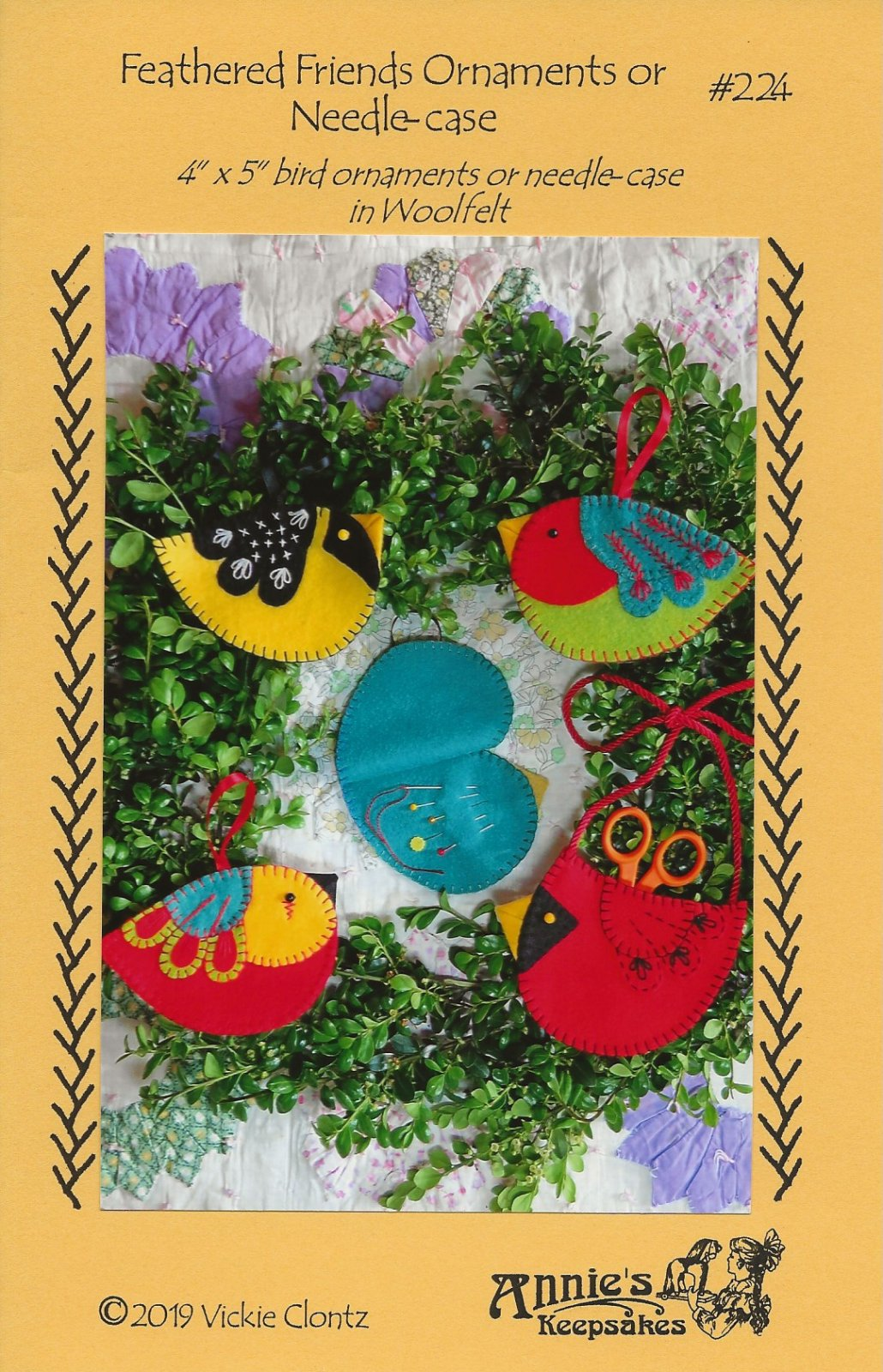 Feathered Friends Ornaments or Needle-case