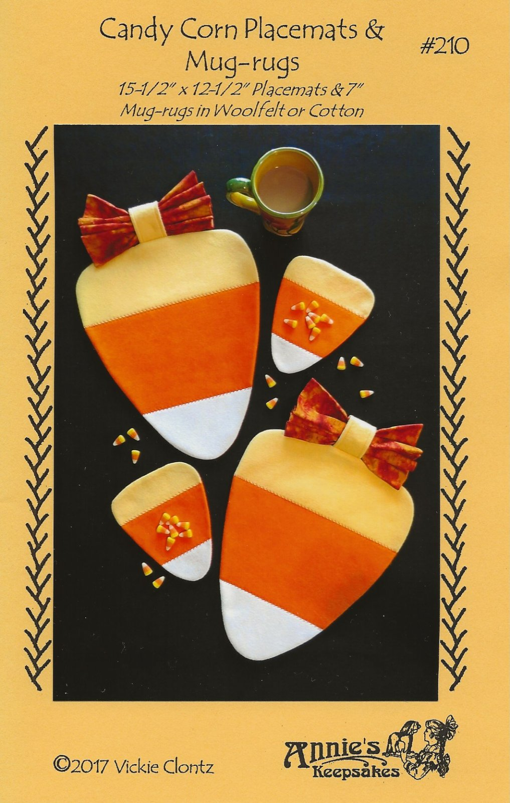 Candy Corn Placemats & Mug-rugs