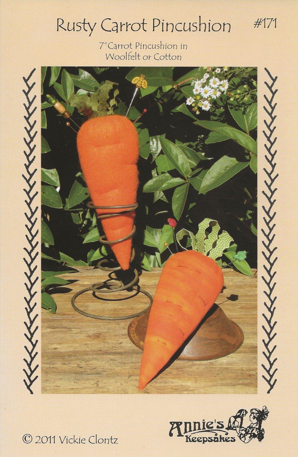 Rusty Carrot Pincushion