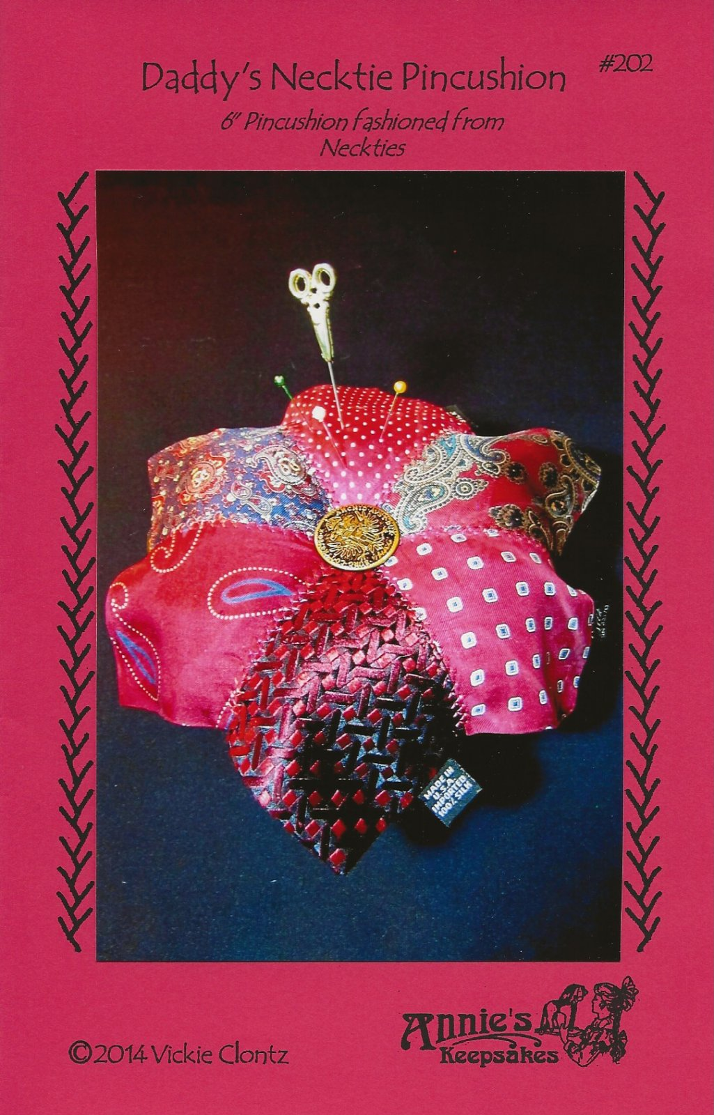 Daddy's Necktie Pincushion