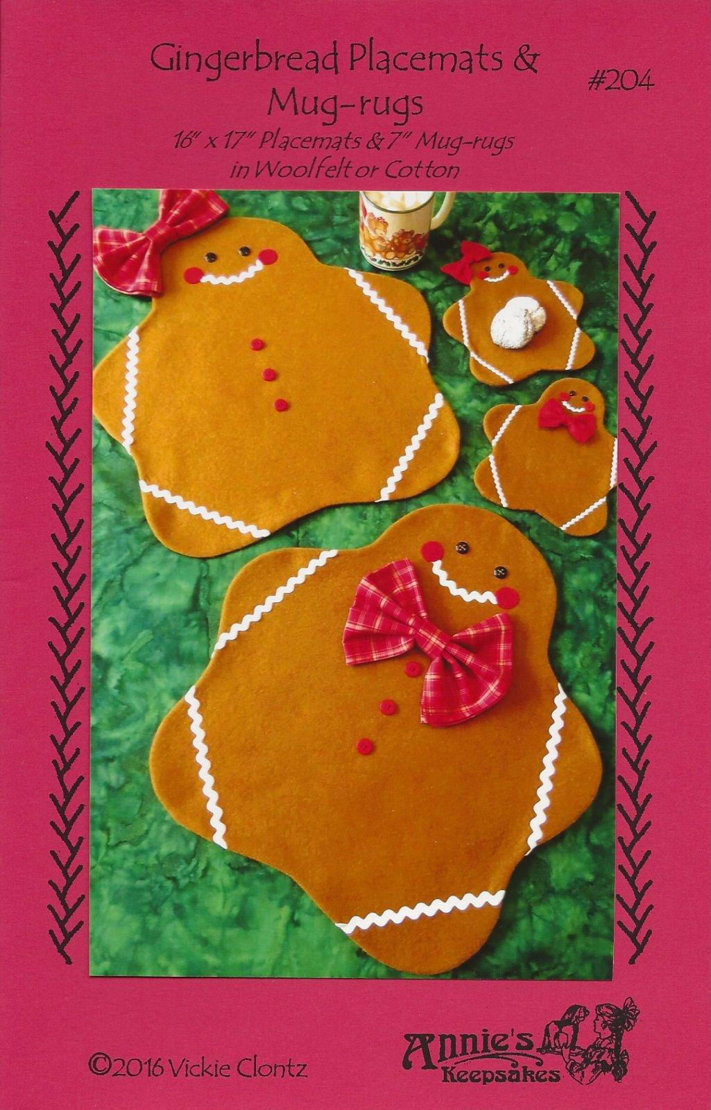 Gingerbread Placemats & Mug-rugs