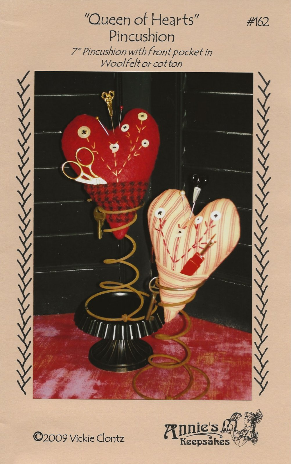 Queen of Hearts Pincushion